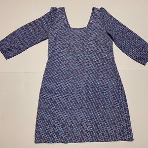 Anthropologie Maude SzL Abstract Blue 3/4 sleeves